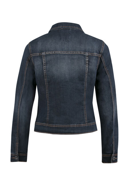 Ladies' Jean Jacket, DARK VINTAGE WASH, hi-res