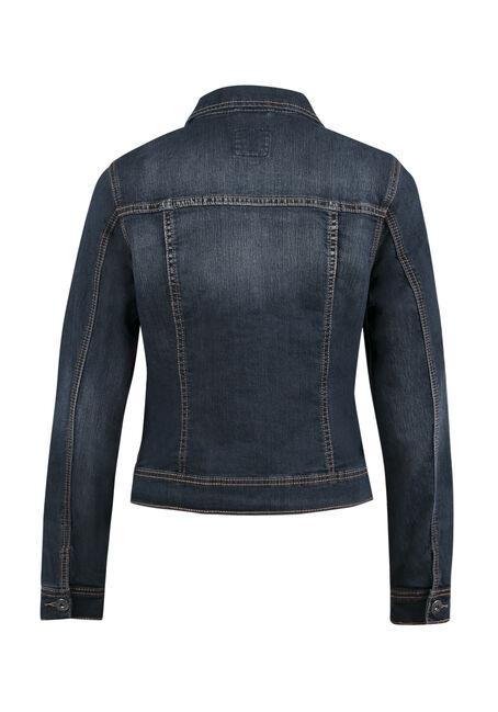 Ladies' Jean Jacket, DARK VINTAGE WASH, hi-res