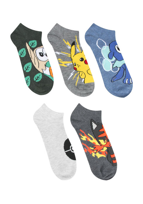 Men's Pokemon 5 Pair Pack, MULTI, hi-res