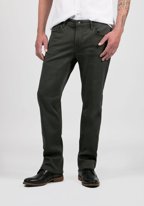 Men's Slim Straight Jeans, CHARCOAL, hi-res