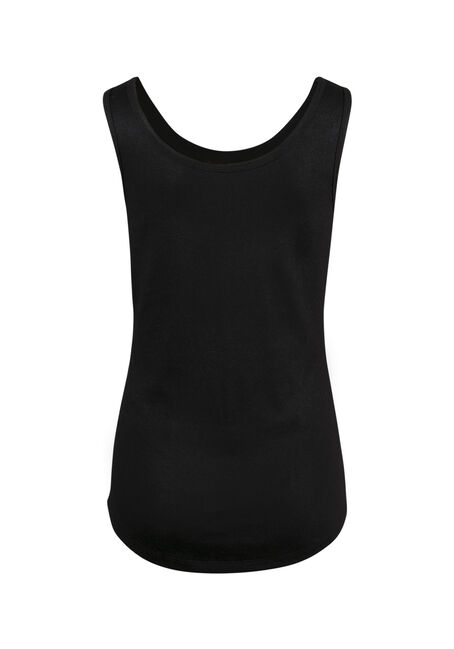 Ladies' Shimmer Tank, BLACK, hi-res