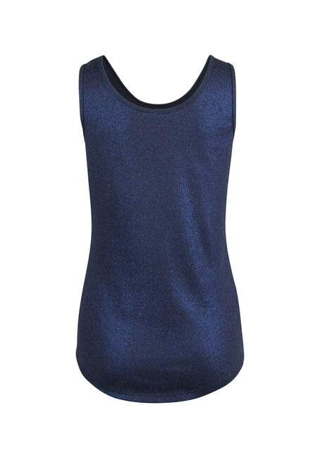 Ladies' Shimmer Tank, NAVY, hi-res
