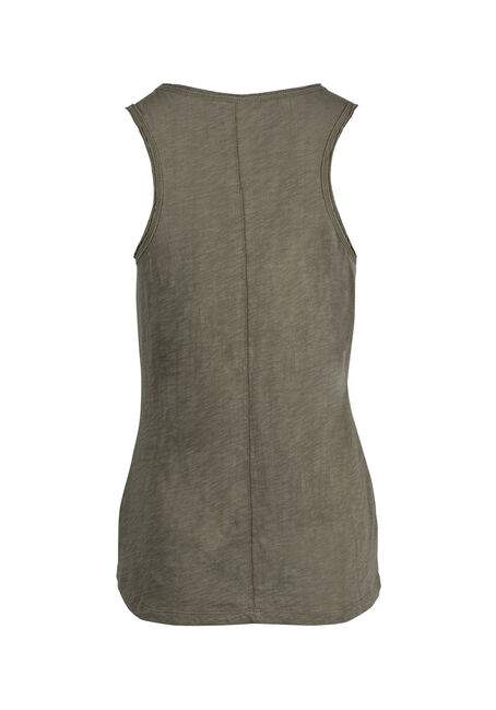 Ladies' Raw Edge Tank, IVY, hi-res