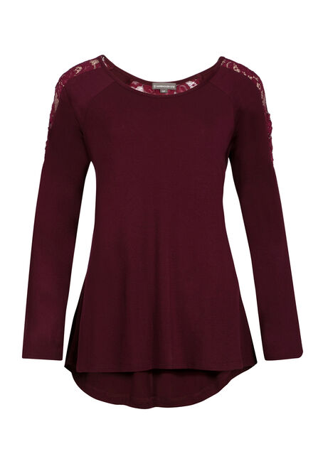 Ladies' A-line Top, WINE, hi-res