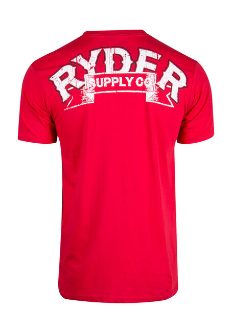 Men's Motor Spirit Tee, RED, hi-res
