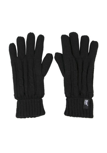 Ladies' Thermal Gloves, BLACK, hi-res