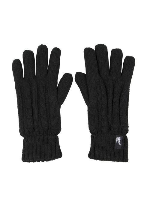 Ladies' Thermal Gloves, BLACK, hi-res