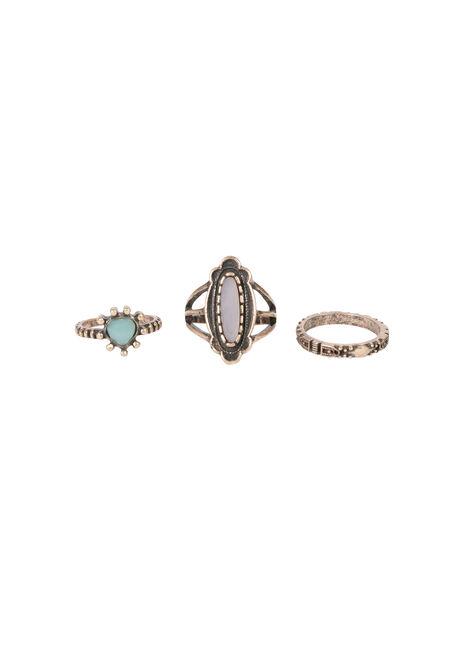 Ladies' Trio Ring Set, GOLD, hi-res