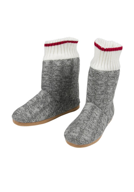 Ladies' Slipper Bootie, GREY, hi-res