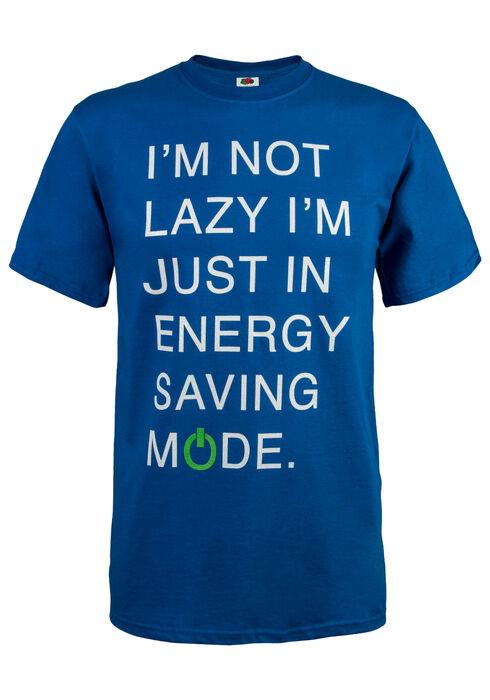Men's Energy Saving Mode Tee, ROYAL BLUE, hi-res