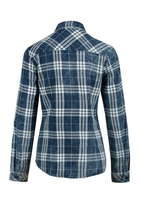 Ladies' Plaid Shirt, MOONLIGHT BLUE, hi-res