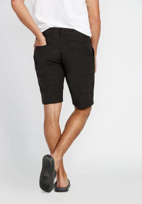 Men's Flat Front Hybrid Short, BLACK, hi-res