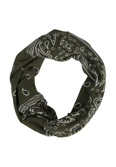 Ladies' Twisted Head Wrap, DARK OLIVE, hi-res