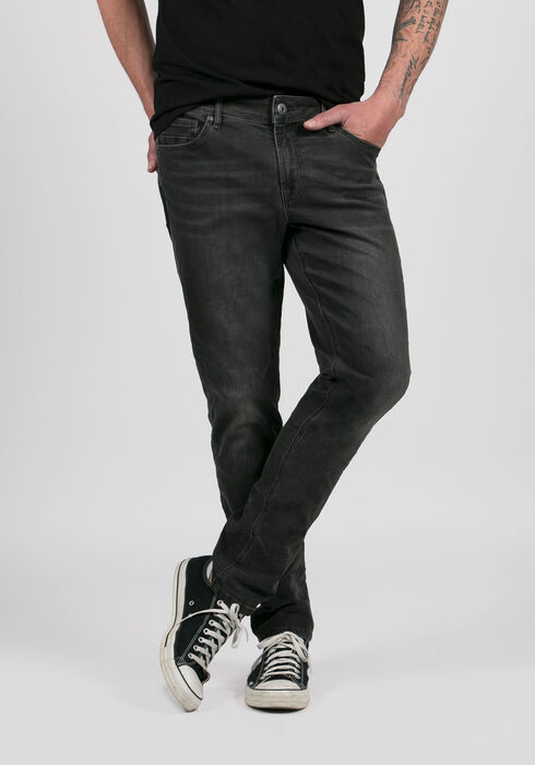 Men's Skinny Jeans, BLACK, hi-res