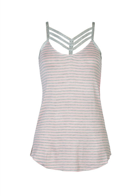 Ladies' Cage Neck Tank, CRYSTAL ROSE/HEATHER, hi-res