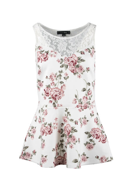 Ladies' Floral Peplum Top