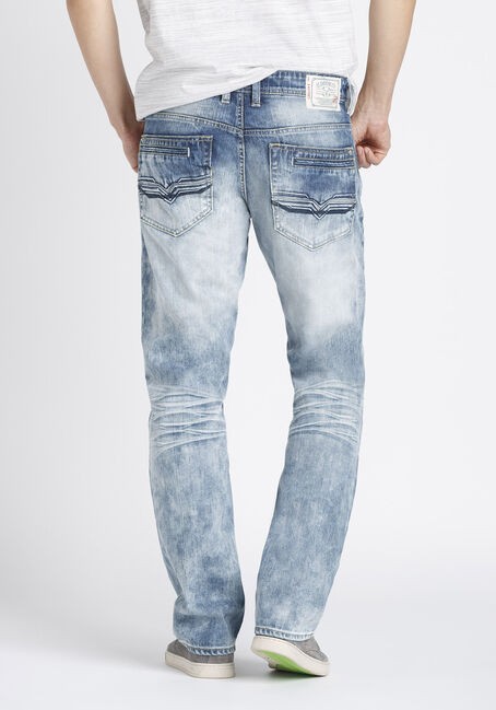 Men's Slim Fit Jeans, BLEACH WASH, hi-res