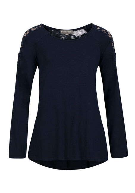 Ladies' A-line Top, INDIGO, hi-res