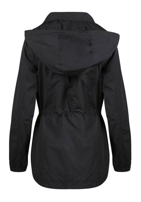 Ladies' Utility Rain Jacket, BLACK, hi-res