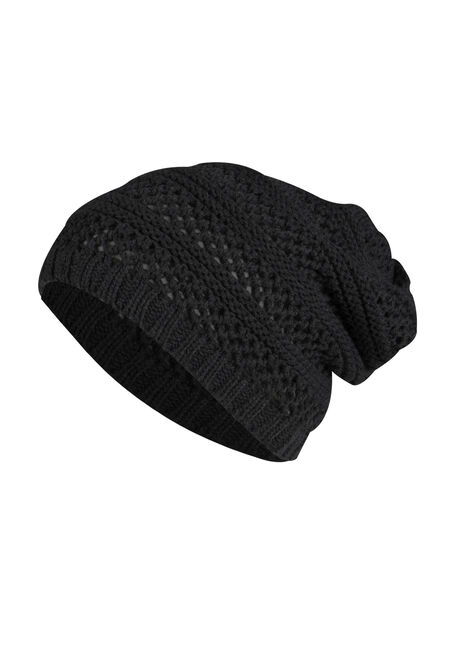 Ladies' Slouchy Hat, BLACK, hi-res