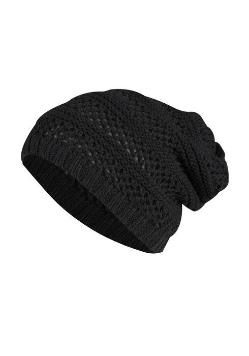 Ladies' Slouchy Hat, BLACK, hi-res
