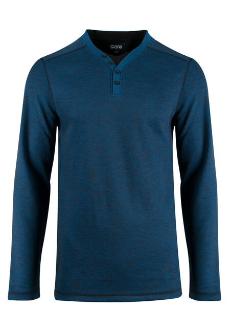 Men's Rib Knit Y-neck Top