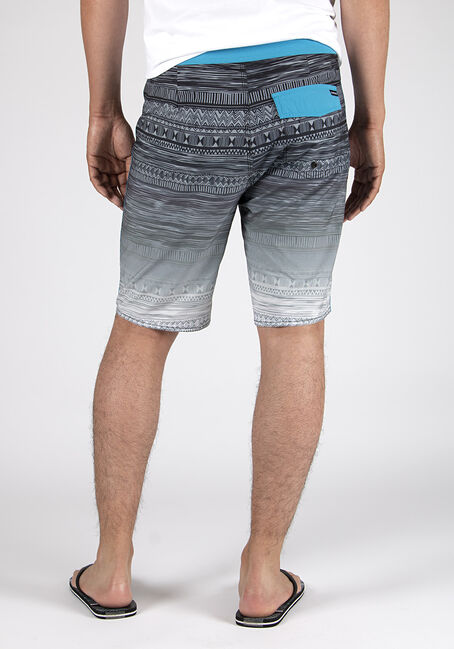 Men's Ombre Aztec Board Shorts, TURQUOISE, hi-res