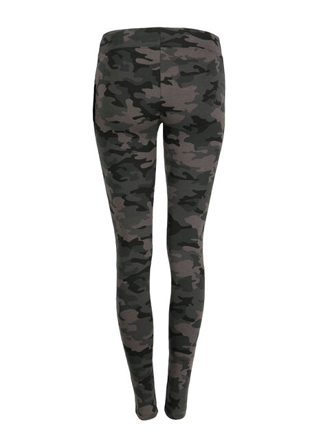 Ladies' Camo Print Legging, CHARCOAL, hi-res