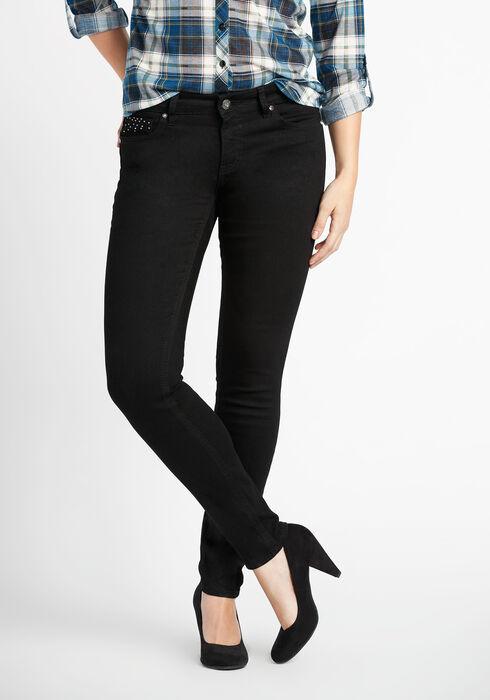 Ladies' Premium Skinny Jeans, BLACK, hi-res
