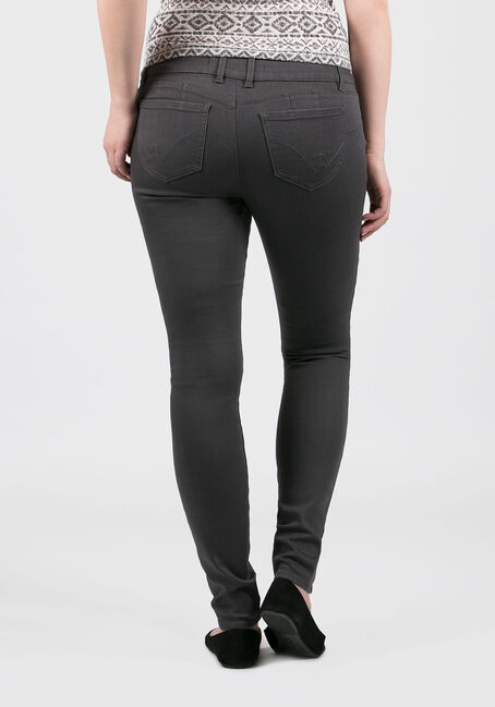 Ladies' Skinny Pants, GREY, hi-res