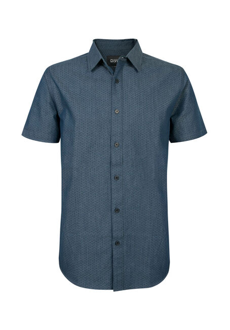Men's Chambray Print Shirt