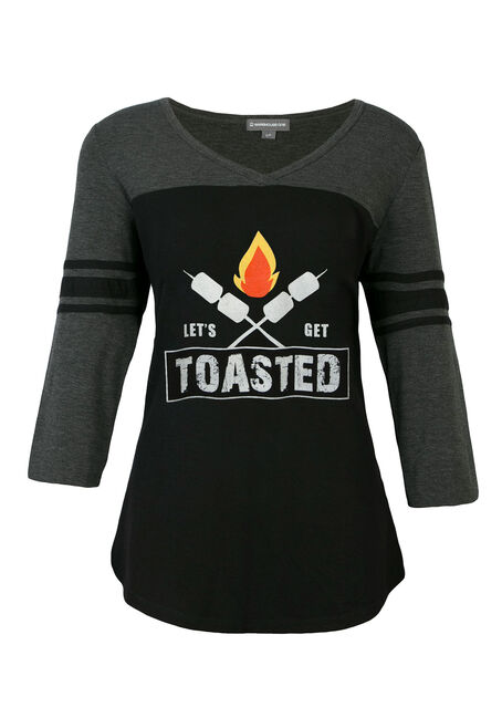 Ladies' Let's Get Toasted Football Tee