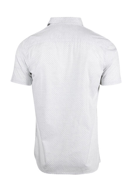 Men's Reverse Printed Shirt, WHITE, hi-res