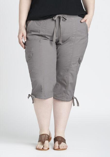 Ladies' Plus Size Cargo Capri