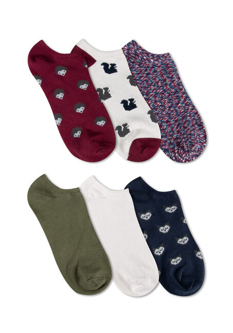 Ladies' 6 Pair Critter Socks