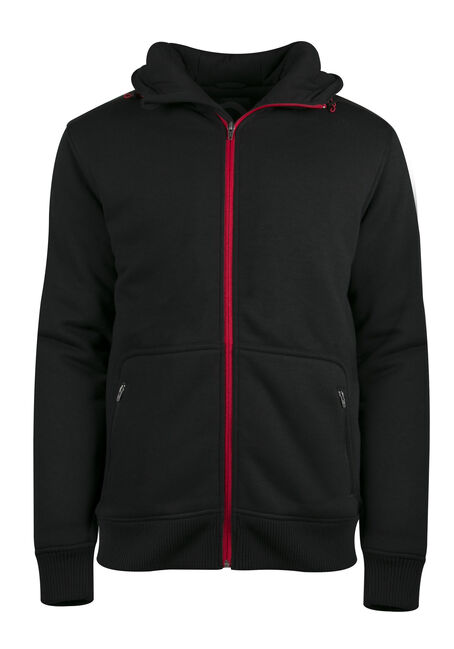 Men's Fleece Jacket, BLACK, hi-res