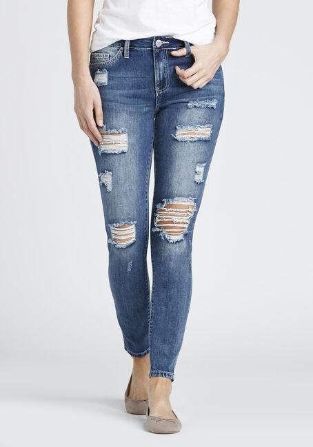 Ladies' Destroyed Skinny Jean