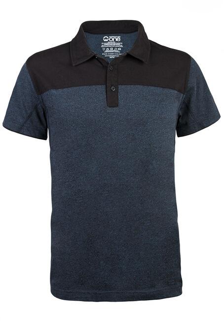 Men's Short Sleeve Colour Blocked Polo, ROYAL BLUE, hi-res