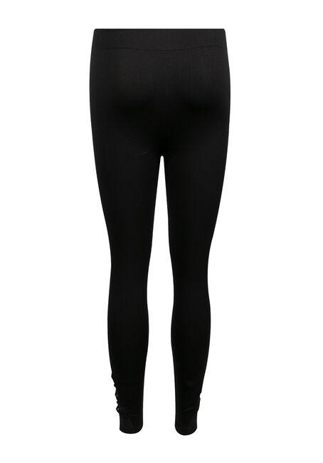 Ladies' Lattice Seamless Legging, BLACK, hi-res