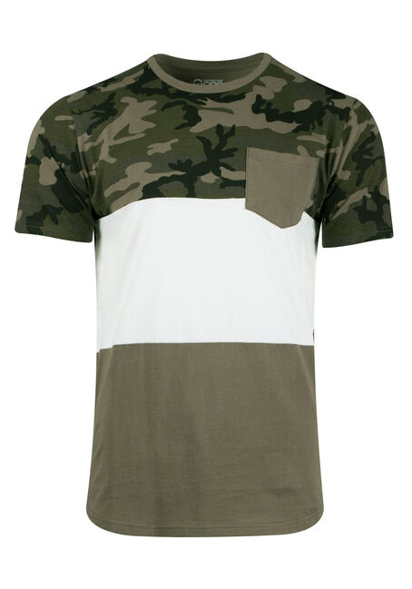 Men's Camo Colour Block Tee