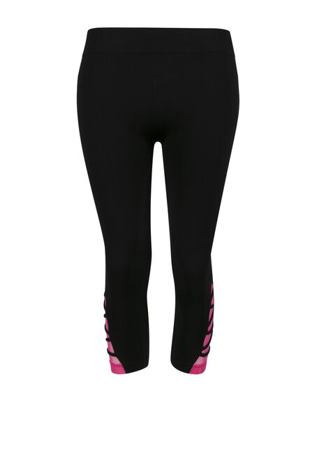 Ladies' Lattice Leg Capri Legging