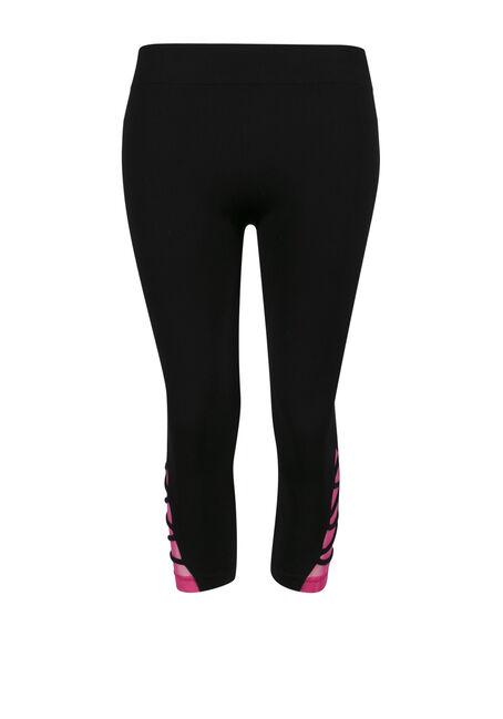 Ladies' Lattice Leg Capri Legging