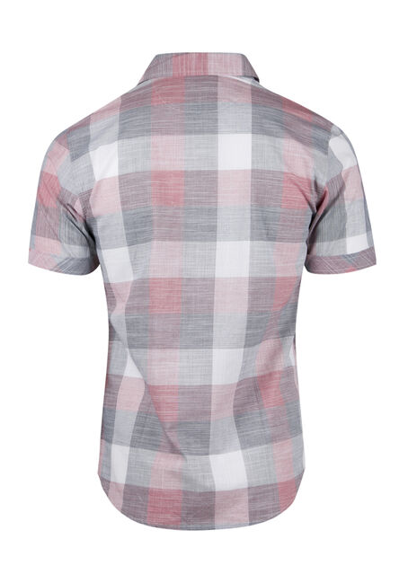 Men's Tonal Plaid Shirt, GINGER, hi-res