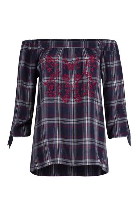 Ladies' Embroidered Bardot Top