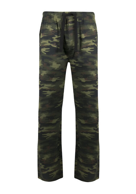 Men's Camo Lounge Pant, OLIVE, hi-res