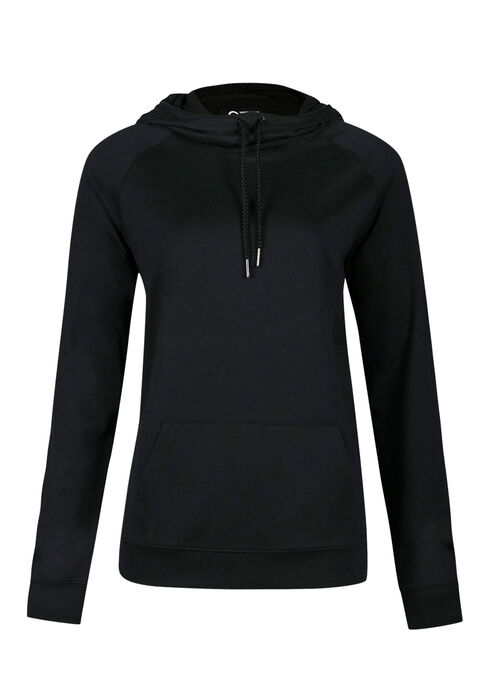 Ladies' Lightweight Hoodie, BLACK, hi-res