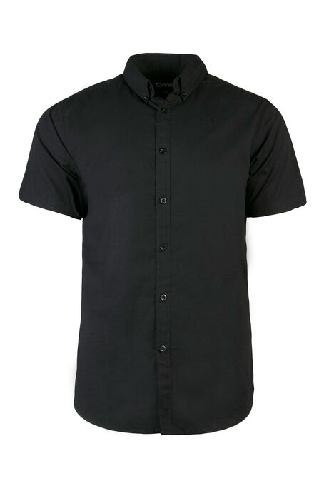 Men's Poplin Shirt, Black, hi-res
