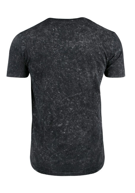 Men's Acid Wash Tee, BLACK, hi-res