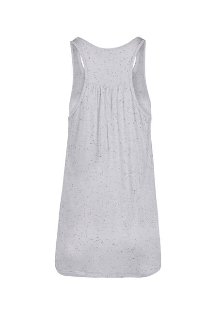 Ladies' Racerback Speckle Tank, WHITE, hi-res