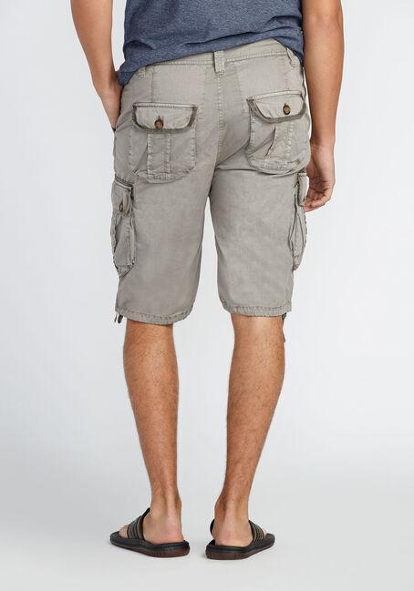 Men's Washed Cargo Short, STONE, hi-res